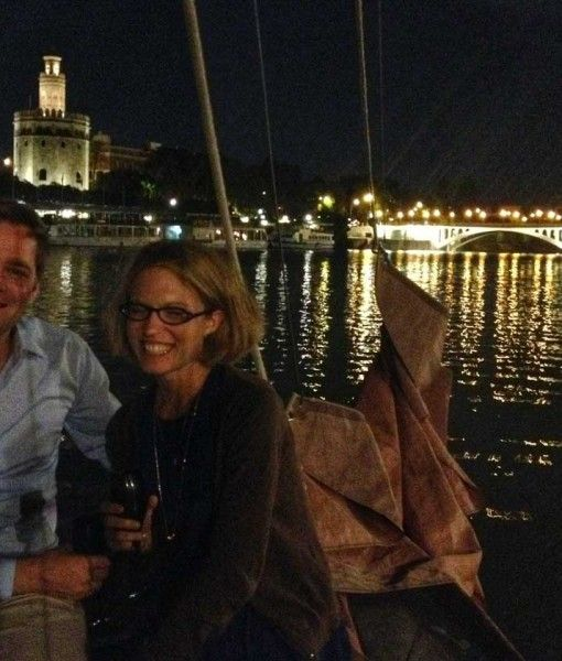 Drinks at the Waterfront on a Boat Trip