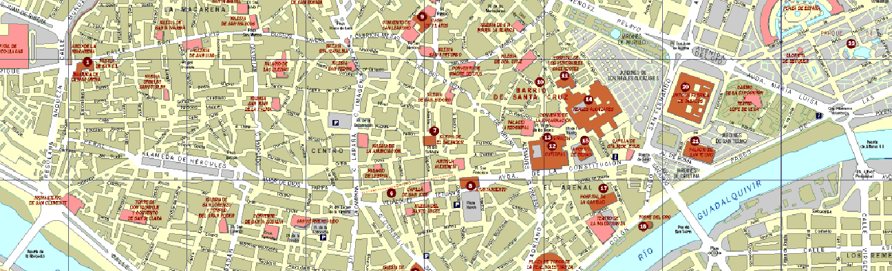 NJAT map of seville Not Just a Tourist