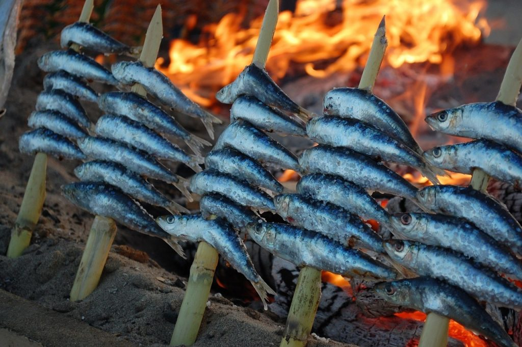 Espetos De Malaga - Traditional Sardines from Spain on a Skewer