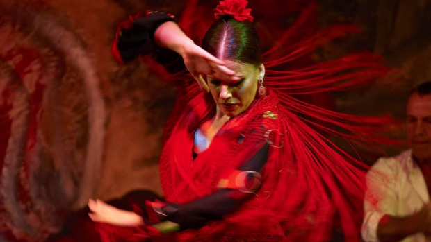 Woman dancing flamenco seville