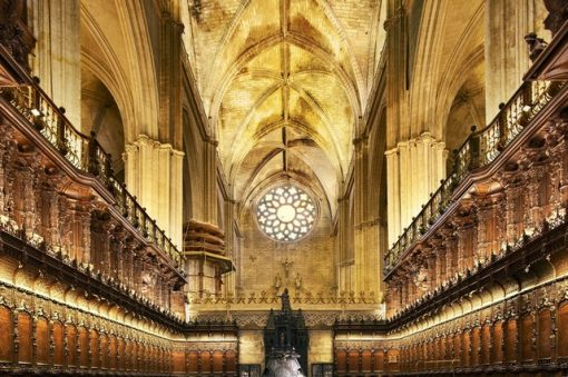 View from inside the majestic Cathedral of Seville