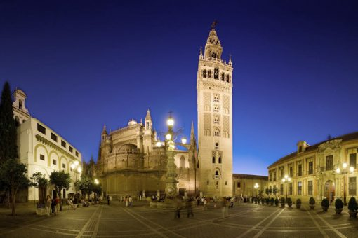 View of the most important sight in Seville: the majestic Cathedral