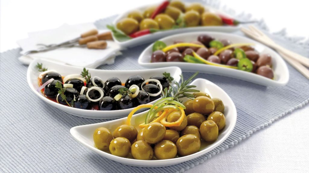 Aceituna (olives) taste delicious and can be found in any bar in Spain