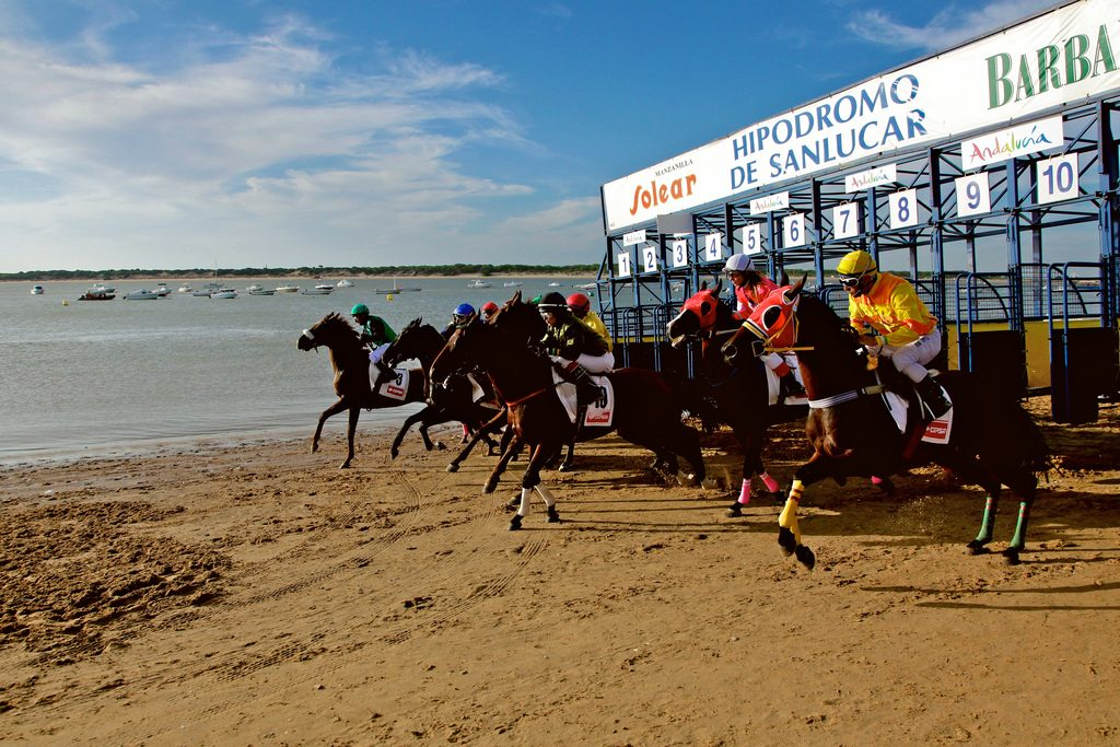 Sanlucar de Barrameda horse race on the beach of the Guadalquivir delta/Sanlucar de Barrameda