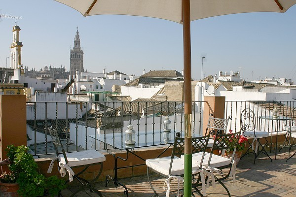 View of Seville from Hotel Amadeus