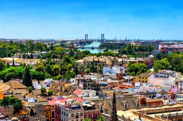 lovers view over beautiful Seville