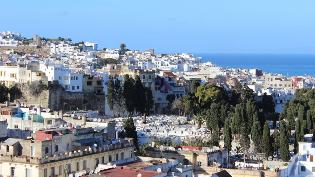 The whitewashed roofs of Tangier