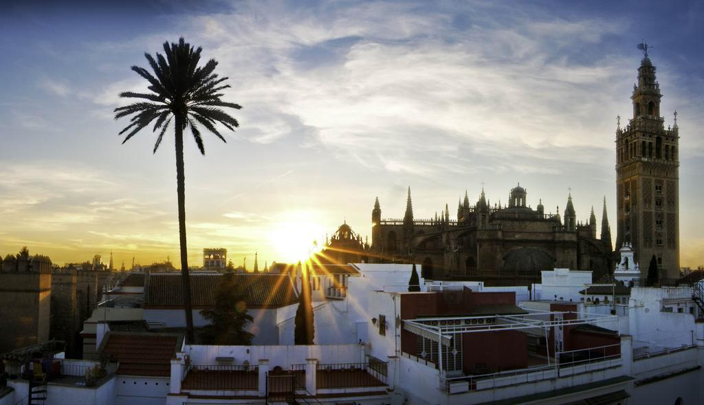 View of Seville from Hotel Palacio Alcazar rooftop lookout