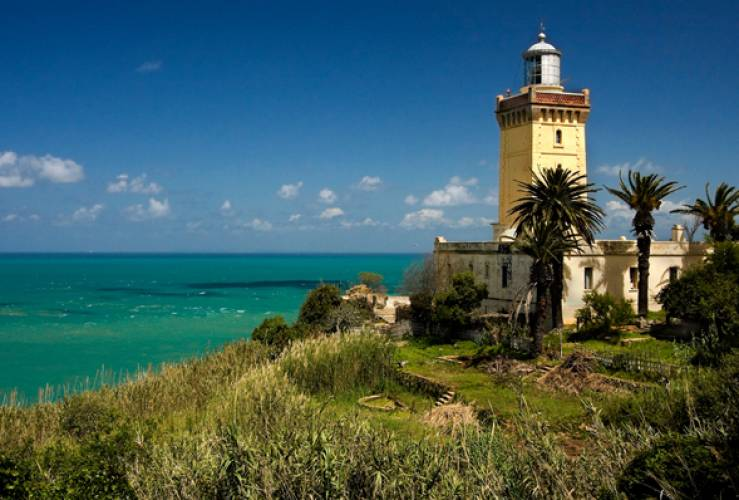 tangier lighthouse in Morocco on guided tour