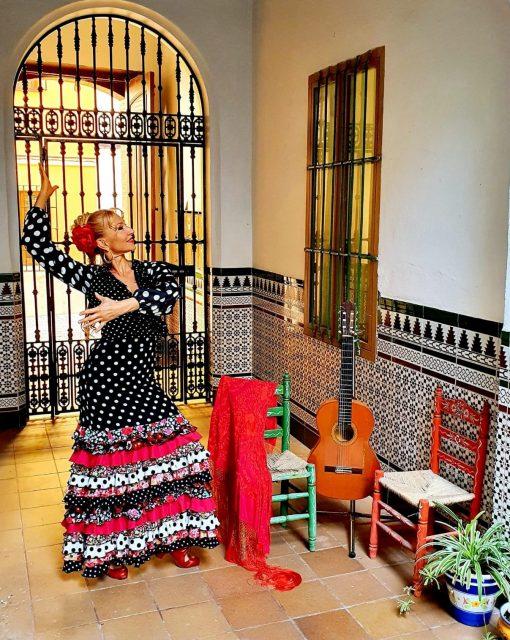 Virtual flamenco dance class with a professional