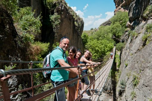 How to get to the Sierra Nevada swinging bridges from Granada