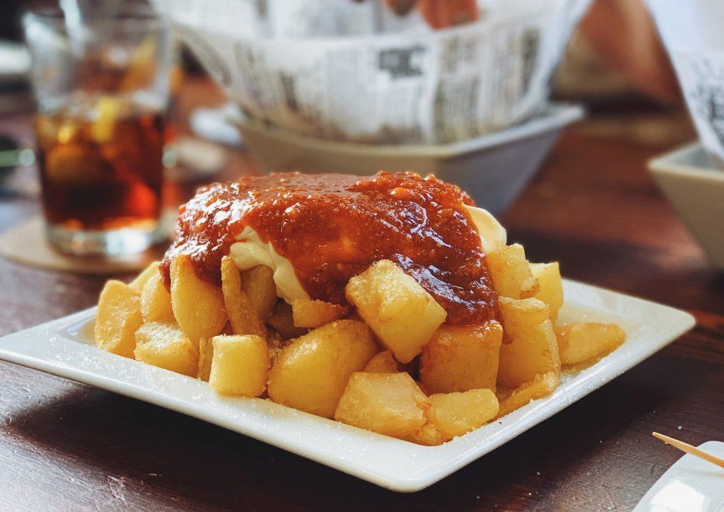 Best food of Spain patatas bravas