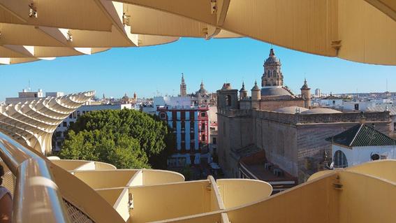 comer con buenas vistas en Sevilla