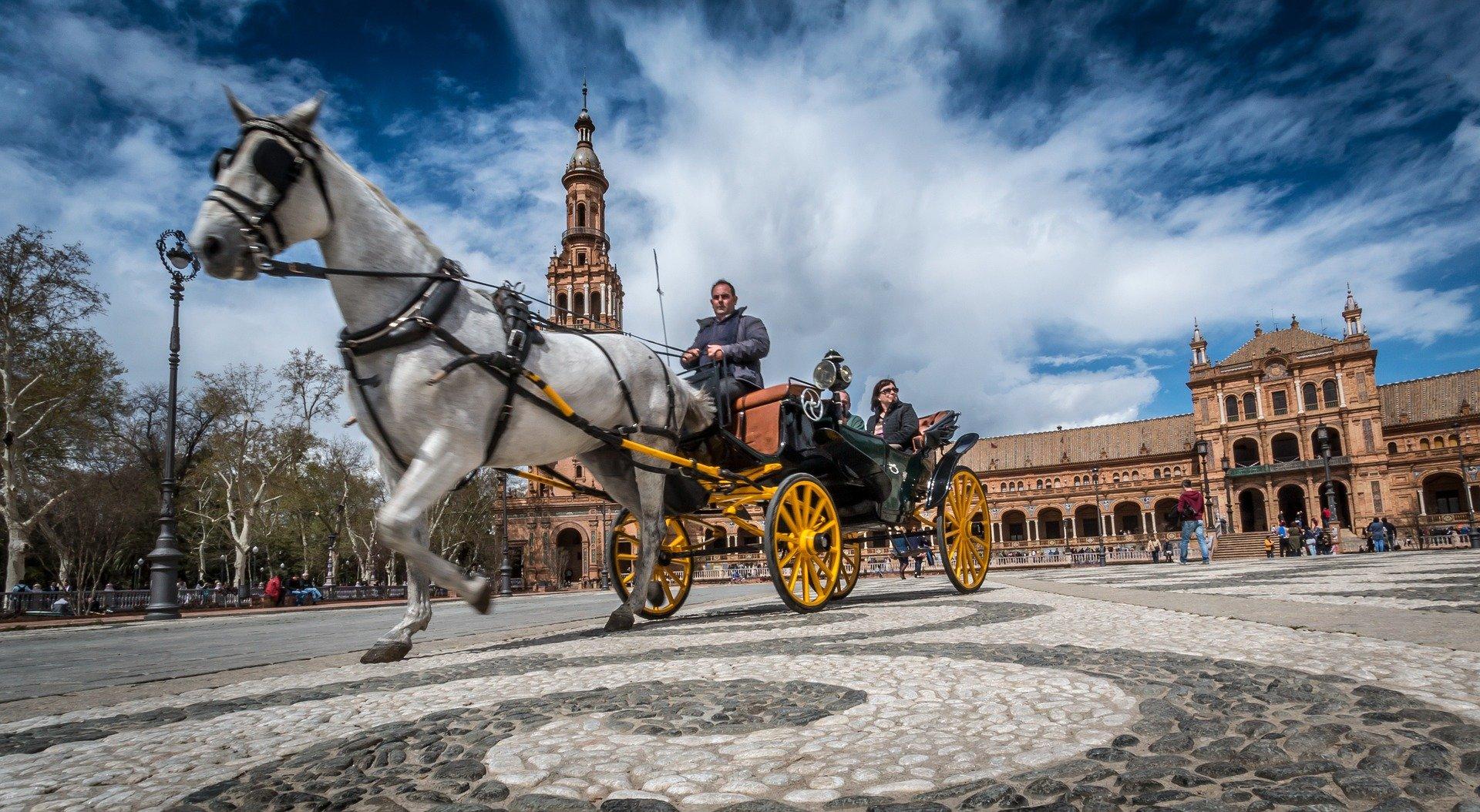 como montar a caballo en Sevilla